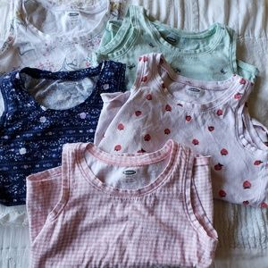 4T Old Navy tank tops - lot of 5